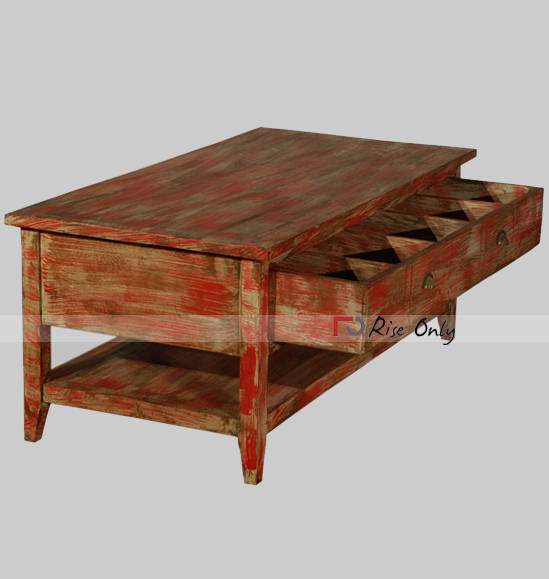 ... Rise Only Acacia Wood Colorful Coffee Tables ...