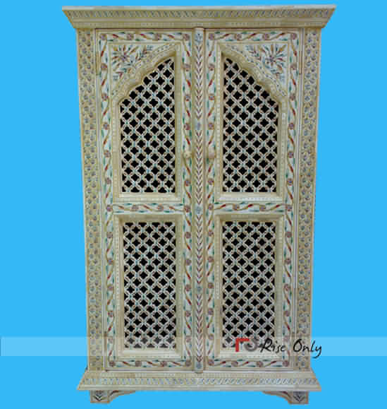 Rise Only Bone Inlay Almirah Furniture Supplier