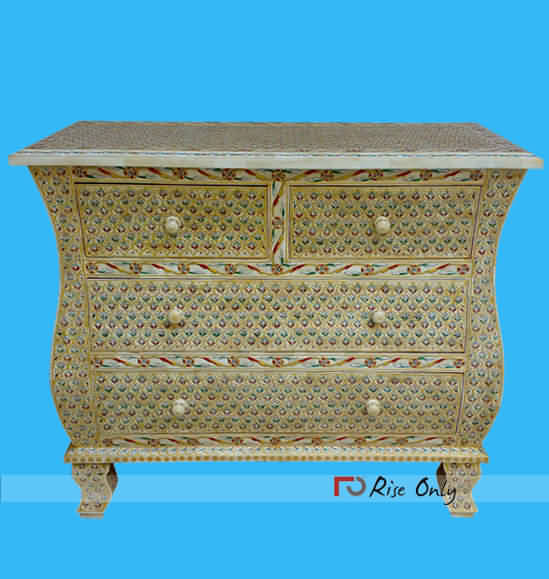 Bone Inlay Chest of Drawers Furniture Morocco