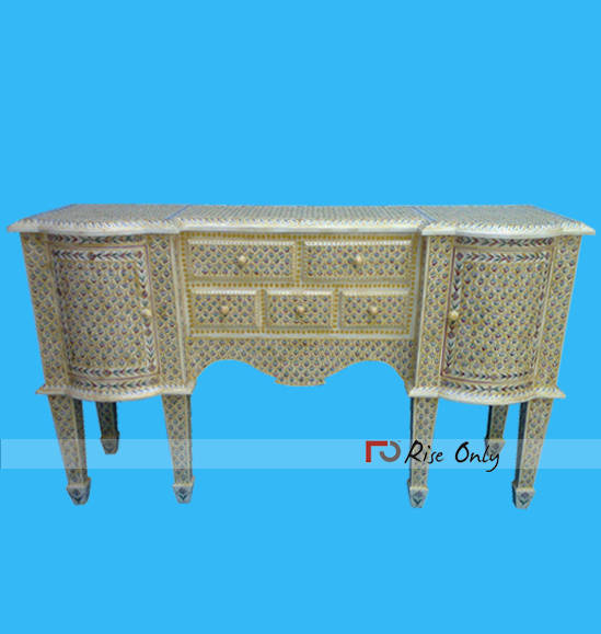 Bone Inlay Console Tables Egyptian Furniture