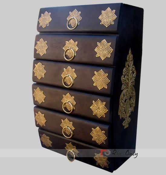 Cheap Online Brass Fitted Chest of Drawers