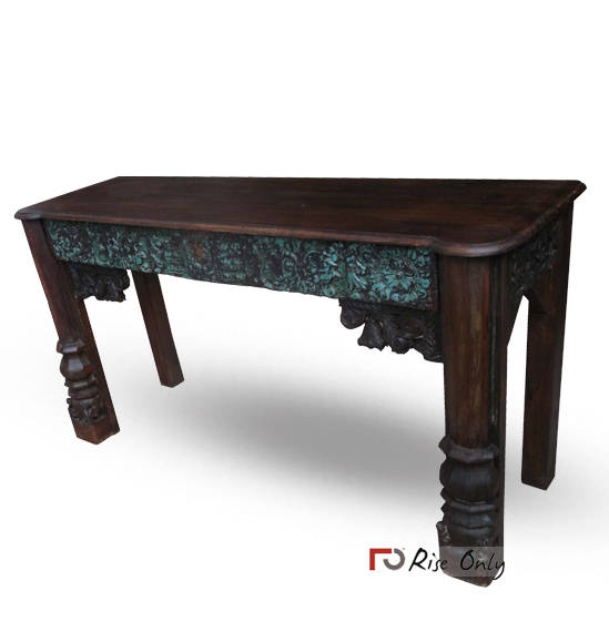 Rise Only Console Table of Carving Panels
