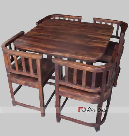 Dining Furniture Manufacturers: Modern Stylish Wooden Dining Table Set With 4 Chairs