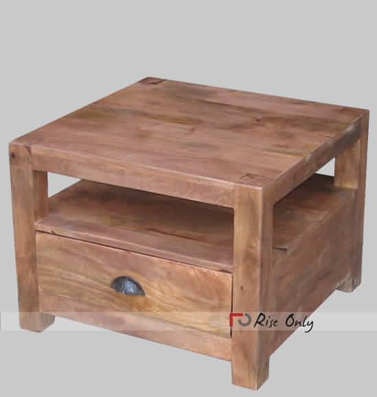 Bed Side Table In Mango Wood Wooden Side Board With