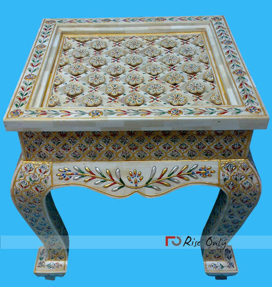 Indian Bone Inlay Coffee Tables For Sale