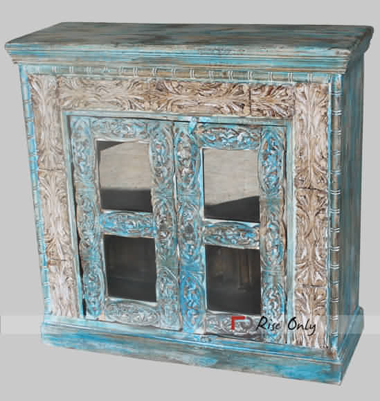 Indian Painted Kitchen Cupboards