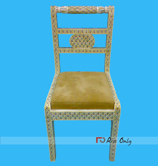 Indian Wooden Bone Fitted Inlay Chairs Syria Online