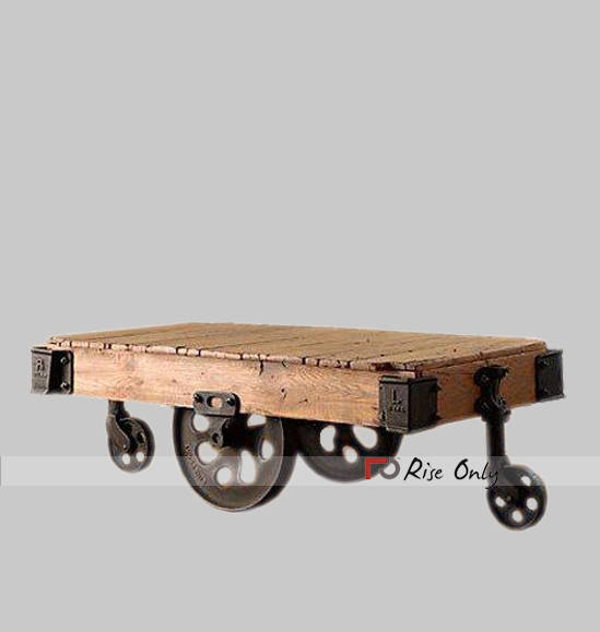 London Industrial Coffee Table Wooden