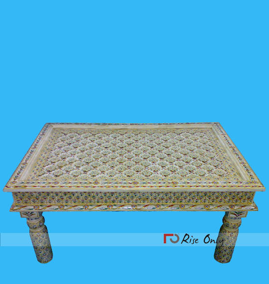 Los Angeles Bone Inlay Coffee Table Furniture