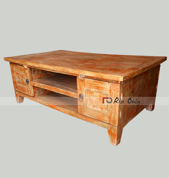 Mango Wood Painted Wooden King Size Coffee Table
