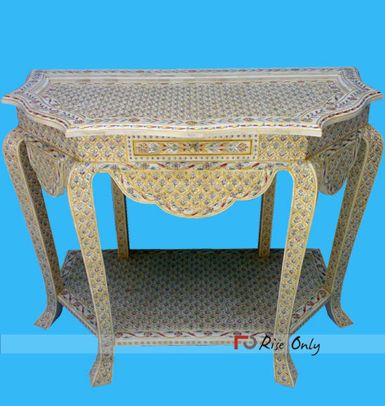 Miami Bone Fitted Inlay Console Tables