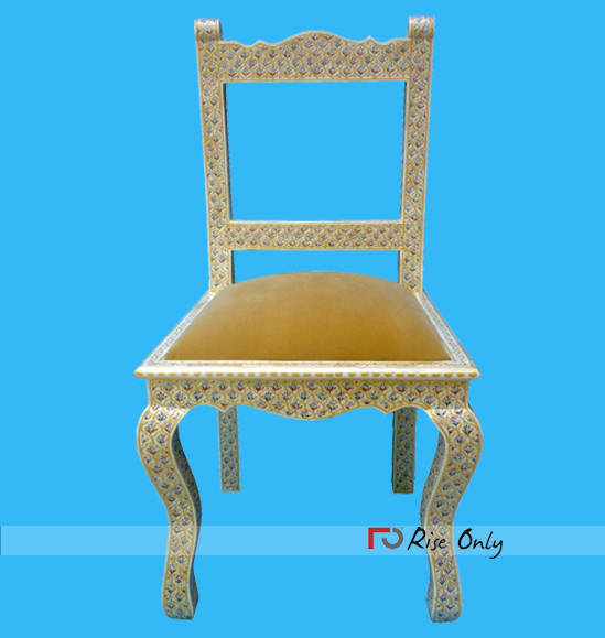 Mother of Pearl Inlay Chair Morocco Online
