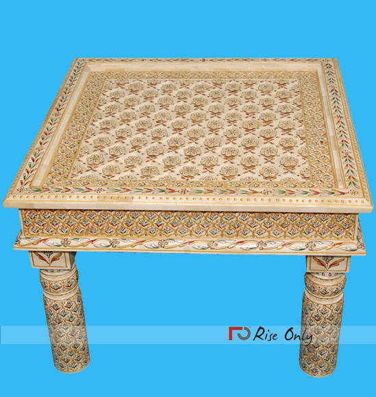 Mother of Pearl Inlay Coffee Table Spain