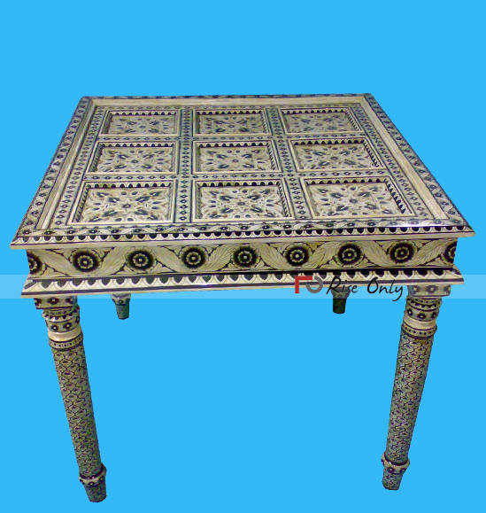 Mother of Pearl Inlay Dining Table New Zealand