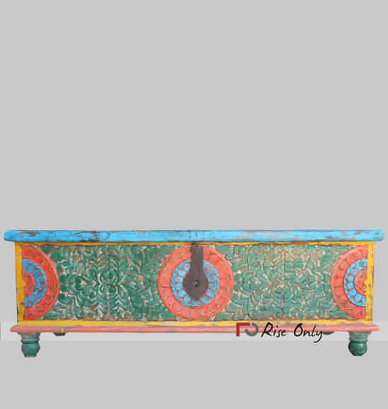 Multicolor Classic Painted Trunk Box