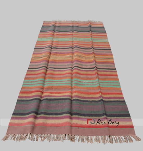 Multicolor Cotton Striped Chindi Rug