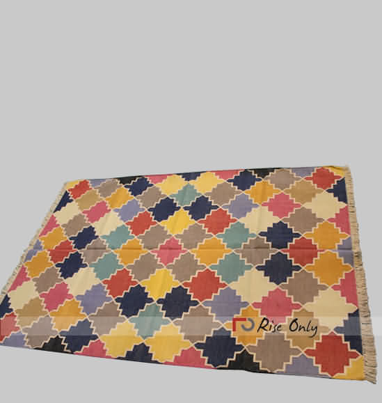 Multicolor Indian Designer Cotton Bedroom Mat