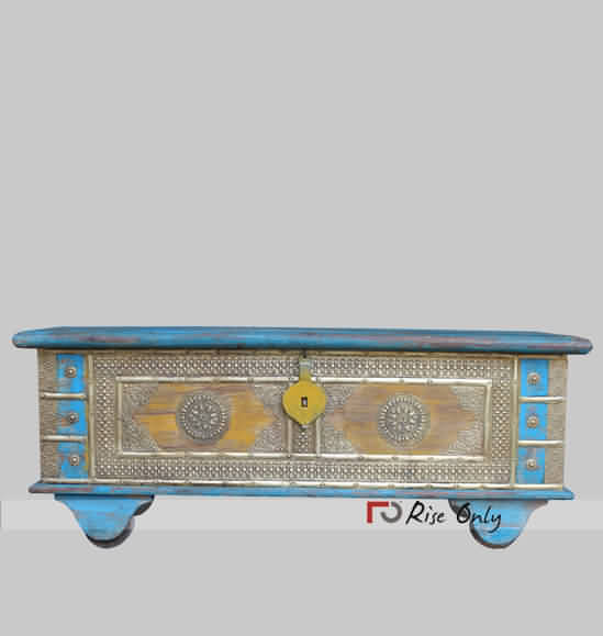 Painted Brass Fitted Chest Box Online India