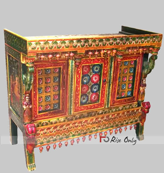 Painted Damchiya Cabinet Chest Sideboard