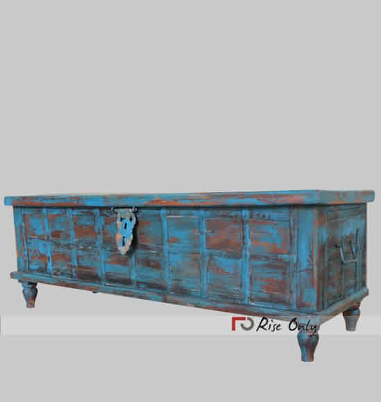 Painted Trunk Box with Distressed Finish