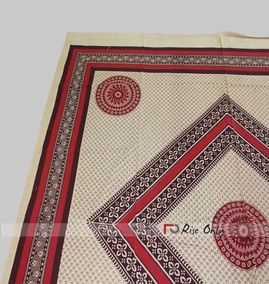Printed Ajrak Barmeri Bed Sheets Manufacturers Online