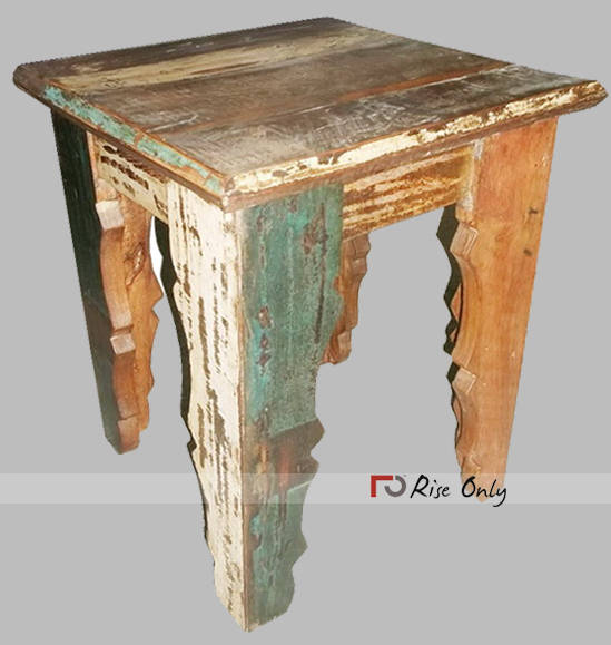 Reclaimed And Recycled Wooden Square Center Table