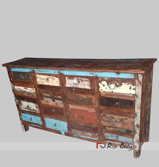 Recycle Wooden Large Chest of Drawers Cabinets
