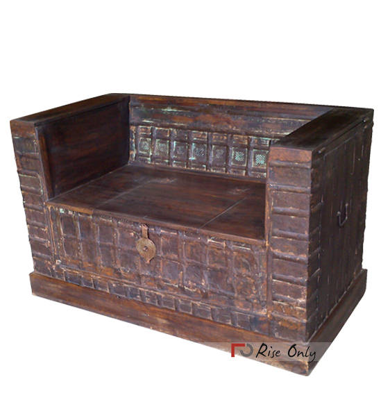 Box Type Sofa Designs: Antique Sofa, 2 Seater Sofa, Antique Couches, Wooden Sofa