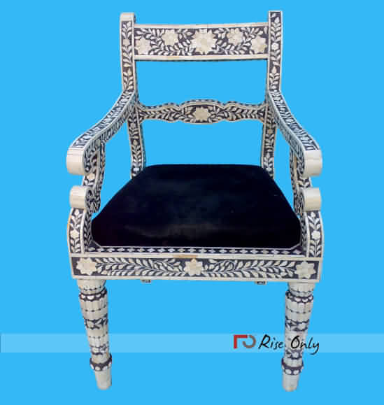 Rise Only Bone Inlay Painted Chairs London