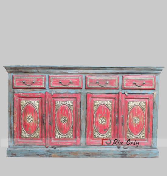 Rise Only Colorful Distressed Finish Sideboards