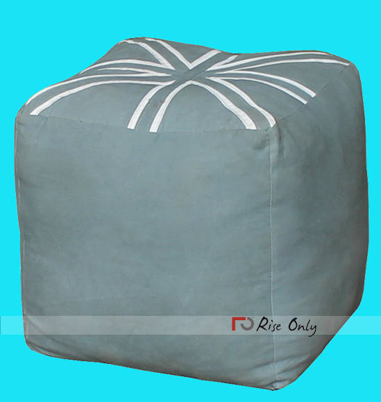 Rise Only Cube Canvas Upholstered Pouf