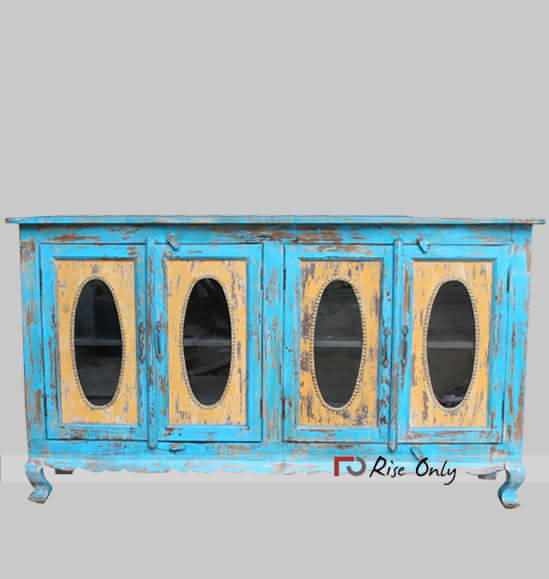 Rise Only Distressed Display Cabinet