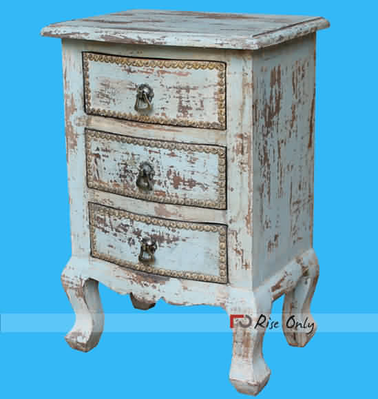 Rise Only Distressed Multicolor Night Stand