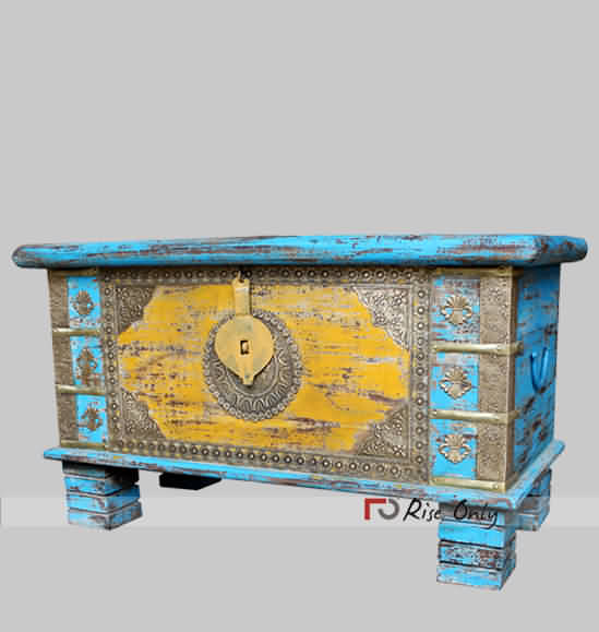 Rise Only Multicolor Chest Box Brass Fitted