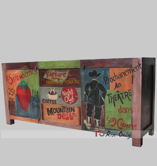Rise Only Painted Sideboards Wooden