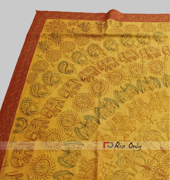 Rise Only Rajasthani Ari Elephant Work Cotton Bed Covers