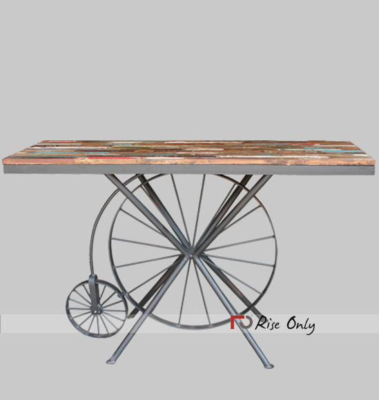 Rise Only Rough Recycle Wood Console Table