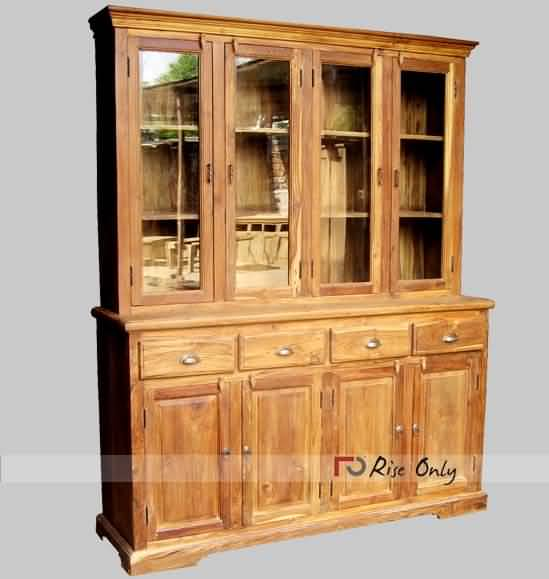 Rise Only Solid Wood Hutch Buffet Cabinet