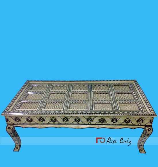 Rise Only Turkish Bone Inlay Coffee Tea Tables