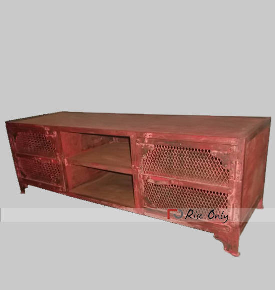 Rise Only Vintage Industrial Style TV Cabinet UK