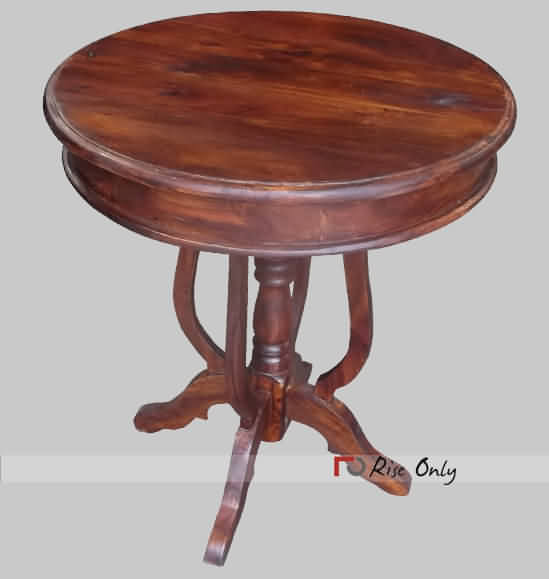 Modern Coffee Tables India: Round Coffee Table In Sheesham Wood, Solid Wood Round
