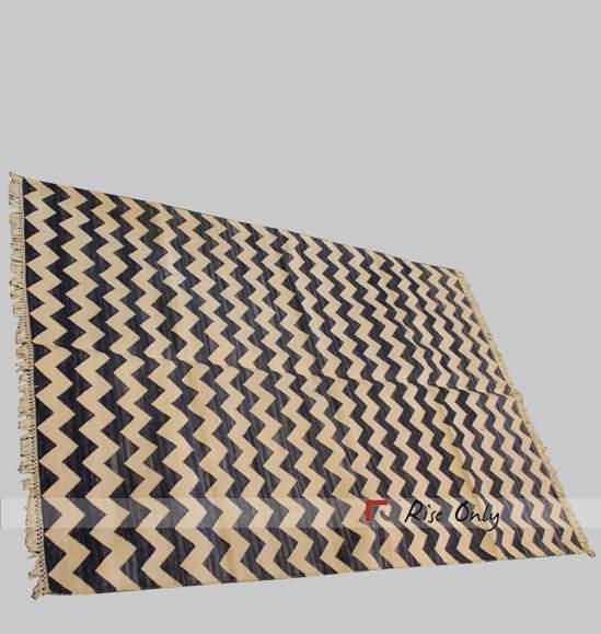 Gy Bedroom Cotton Black Striped Floor Mat