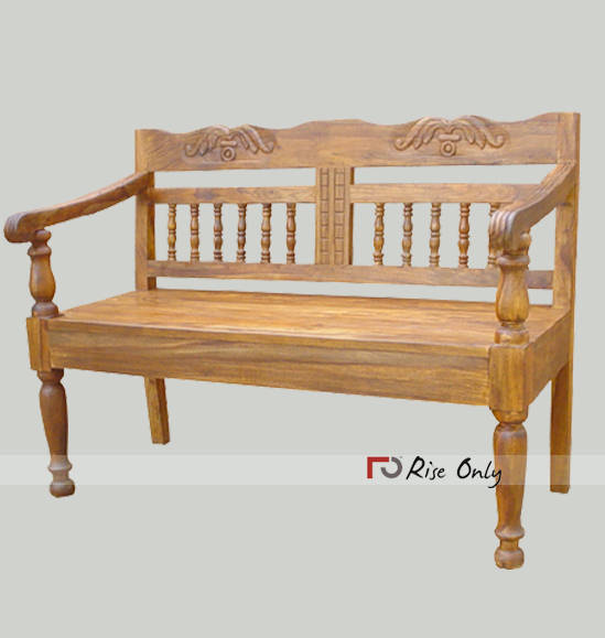 sheesham wood 3 seater bench, wooden dining bench, rustic wood bench 3 Seater Dining Bench