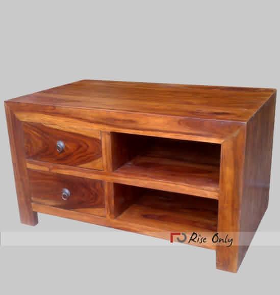 Small Size Wooden Tv Cabinet Online Sheesham Wood Mini Tv