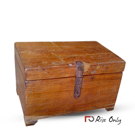 Small Teak Wood Storage Trunk Box