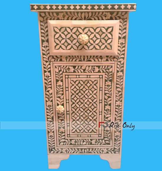 Syrian Mother of Pearls Bedside Furniture
