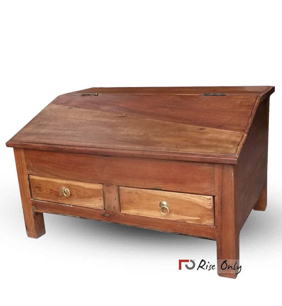 small writing table. Teak Wood Vintage Small Writing Desk Table T