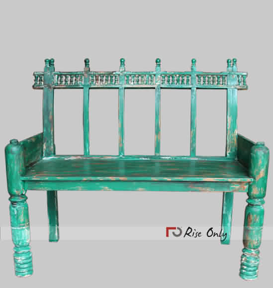 Wholesale Painted Green Garden Benches