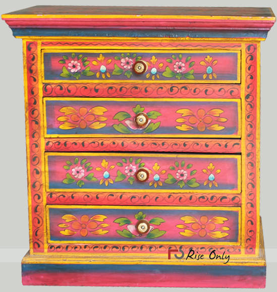 Rise Only Acacia Wooden Painted Bedside
