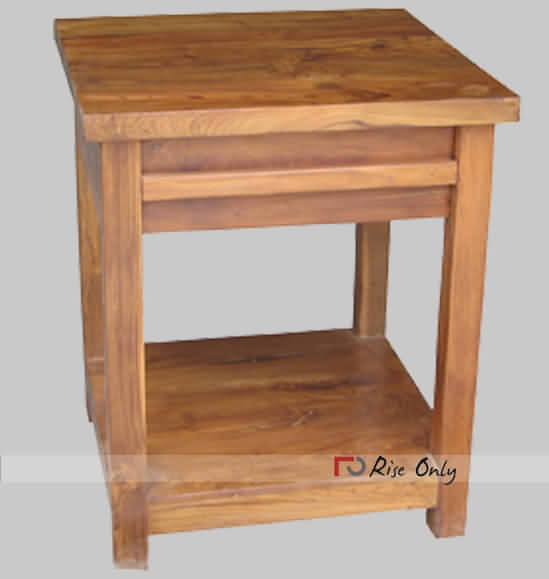 Teak Wood Side Table.Wooden Side Table In Teak Wood Natural Wood Finish Bed Side